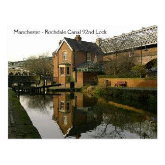 Rochdale Canal Lock 92 Postcard