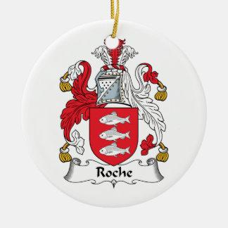 Roche Family Crest Christmas Ornament