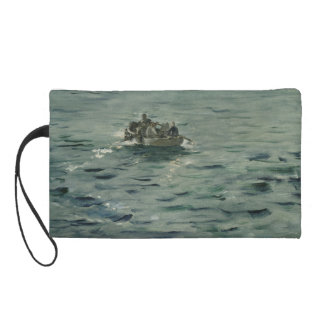 Rochefort's Escape by Edouard Manet Wristlet Clutches