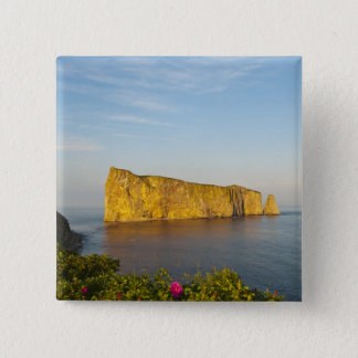 Rocher Perce (Perce Rock), Quebec, Canada. 15 Cm Square Badge