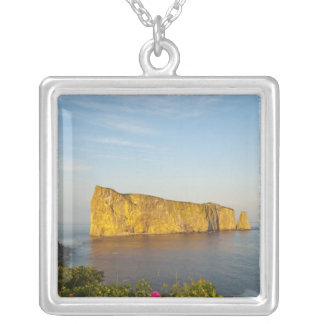 Rocher Perce (Perce Rock), Quebec, Canada. Silver Plated Necklace