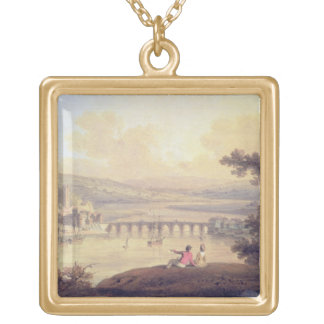 Rochester, 1799 (oil on canvas) gold plated necklace