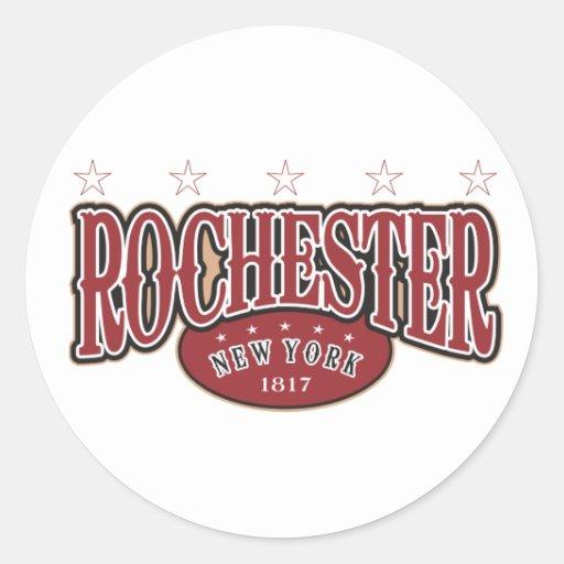 Rochester 1817 round stickers