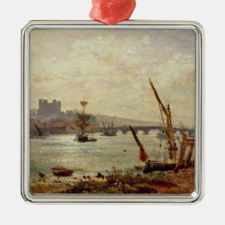 Rochester Cathedral and Castle, c.1820-30 (oil on Christmas Ornament