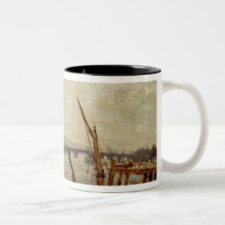 Rochester Cathedral and Castle, c.1820-30 (oil on Two-Tone Coffee Mug