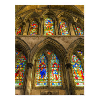Rochester Cathedral Stained Glass Windows Art Postcard