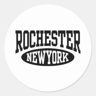 Rochester New York Classic Round Sticker