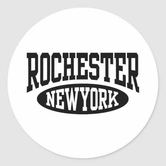 Rochester New York Classic Round Sticker