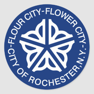 Rochester, New York, United States Round Sticker
