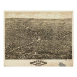Rochester NY 1880 Panorama Posters