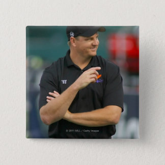 ROCHESTER, NY - JUNE 24:  Regy Thorpe, head 15 Cm Square Badge