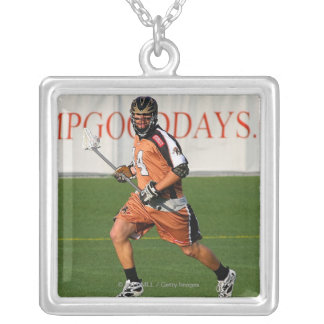 ROCHESTER, NY -MAY 21: Greg Bice #44 Silver Plated Necklace