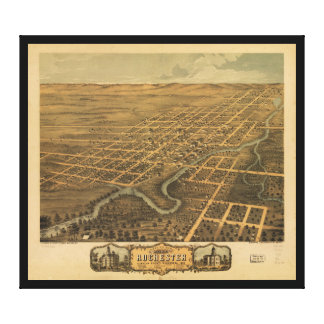 Rochester Olmsted County Minnesota (1869) Stretched Canvas Prints