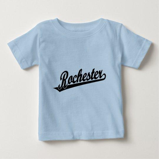 Rochester script logo in black baby T-Shirt