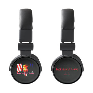 Rock Against Trump headphones