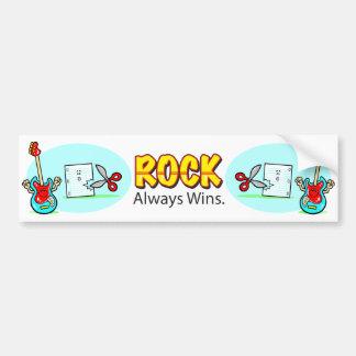 Rock Always Wins Bumper Sticker