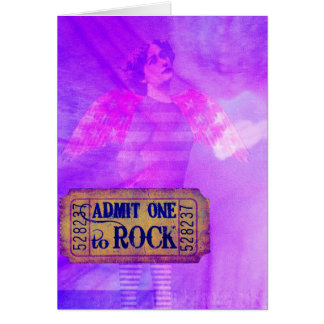 Rock and Roll Angel Digital Collage Greeting Card