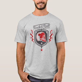 rock and roll becomes bald red T-Shirt