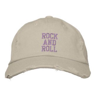 ROCK AND ROLL EMBROIDERED CAP