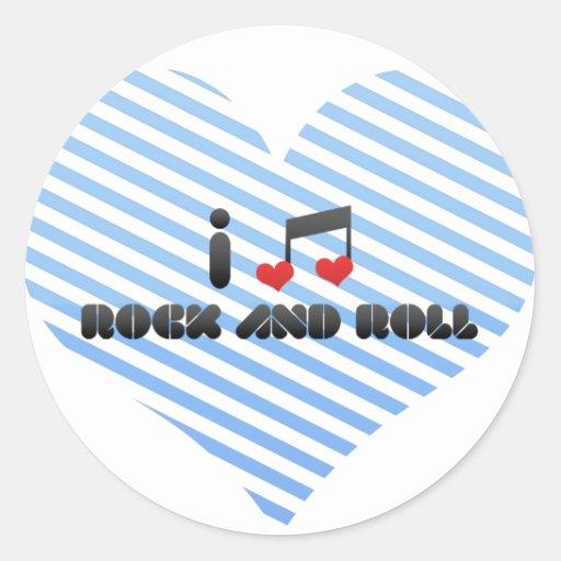 Rock And Roll fan Round Sticker