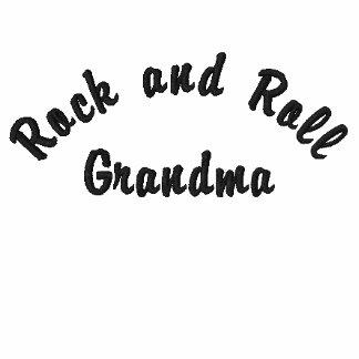 Rock and Roll, Grandma Embroidered Hooded Sweatshirt