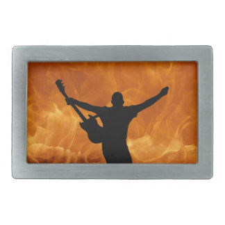 Rock and Roll Guitarist Belt Buckle
