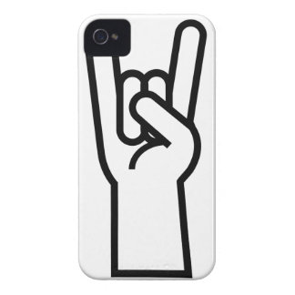 Rock and Roll Hand iPhone 4 Cases