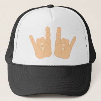 Rock and Roll Hand Sign Trucker Hat