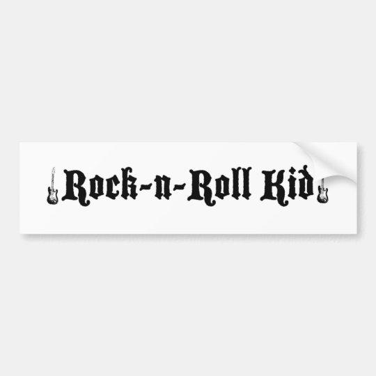 Rock and Roll Kid Bumper Sticker