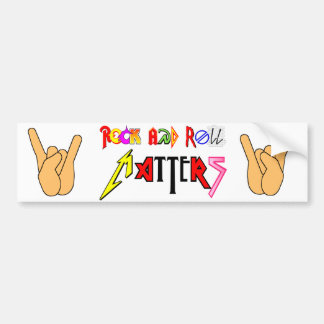 Rock and Roll Matters Bumper Sticker