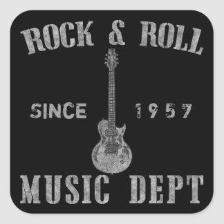 Rock and Roll Music Department Square Sticker