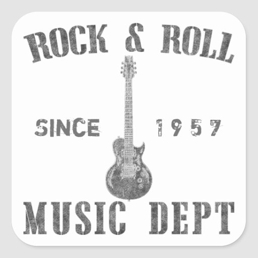 Rock and Roll Music Department Stickers
