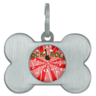 Rock And Roll Noise Pet Tag