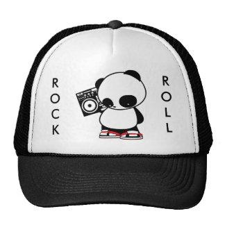 Rock and Roll Panda Mesh Hats