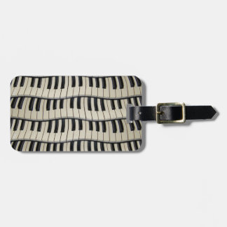 Rock And Roll Piano Keys Luggage Tag