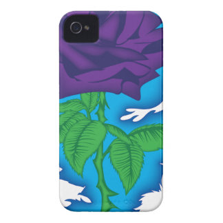 rock and roll rose.png iPhone 4 Case-Mate cases
