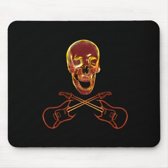 Rock and Roll Skull Mouse Mat