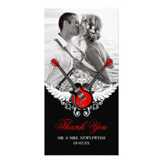 Rock and Roll Wedding Thank You Custom Photo Card