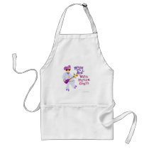 Rock and Roll will never diet! Standard Apron