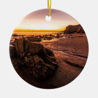 Rock and Shore at El Matador Christmas Ornament
