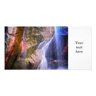 Rock and water personalized photo card