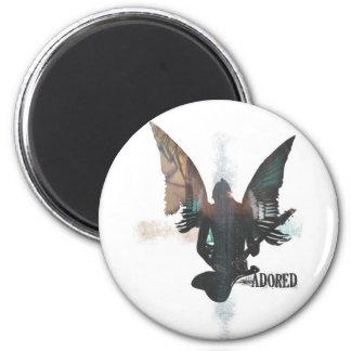 Rock Angel 6 Cm Round Magnet