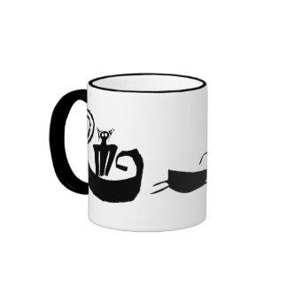 Rock Art Santa Ringer Coffee Mug