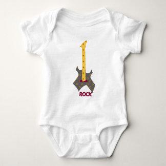 Rock Baby Rock  Calico Guitar Baby Bodysuit