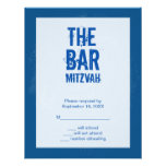Rock Band Bar Mitzvah Reply Card In Blue Custom Invite