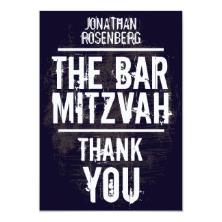 Rock Band Bar Mitzvah Thank You Card - All Type