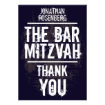 Rock Band Bar Mitzvah Thank You Card - All Type Personalised Invitation
