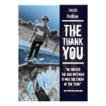 Rock Band Bar Mitzvah Thank You Card Personalized Invites