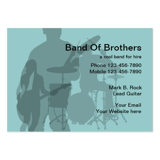 Rock Band Business Cards