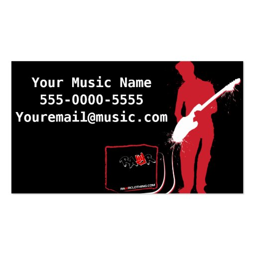 Rock Band Emo Business Cards Business Card Template
